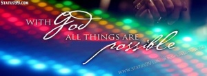 with god all things are possible  banner
