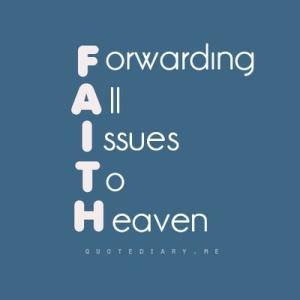 faith spelled out
